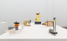 Peter Shire,A Survey of Ceramics: 1970s to the Present, installation view at Derek Eller Gallery, New York