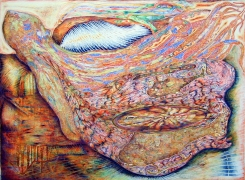 Interflow, 2002, color pencil on paper