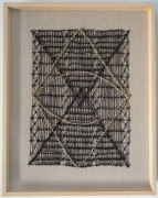 Sight, 2019, linen threads and ink