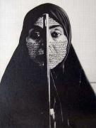 Shirin Neshat, 2003, graphite on paper