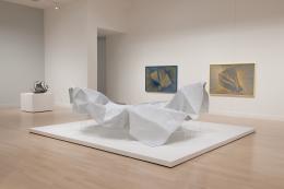 Installation view of Alyson Shotz: Un/Foldingat the Weatherspoon Art Museum, Greensboro, NC