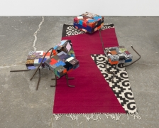 In the Wings (in Collaboration with Emi Winter), 2015, Hand loomed rug, natural dye