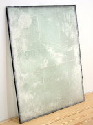 Luck, 2009, drywall dust on insulated window