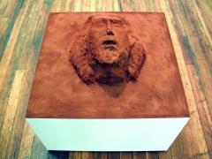 Martian Ruin, 2003, sand, pigment, polymer, mdf