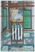 Finster's Mirror House, 2017, oil, acrylic, Flashe on aluminum panel