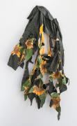 Come September II, 2019, inkjet transfer and acrylic on rain jacket, Permalac