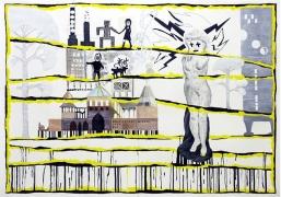 Funkis Liksom (It's, like, so functionalist), 2006, mixed media on paper