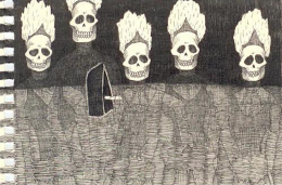 Black's the Colour, Watch the Claws (detail), 2006, ink on paper