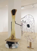 Transmissions of the Threadbare, 1997-2012, hydrocal, foam, steel, wood, clay, plaster, plastic lace, wire, acrylic, rocks