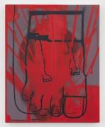 Three Feet (red), 2020-2021