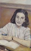 Anne Frank at Her Desk, 2008, oil on linen