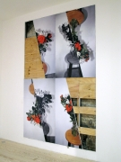 Locus Rubric II, 2011, Inkjet photographs mounted on wall, with wall displacements and removals