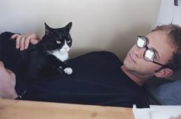 Elijah with Cat, 2002, c-print