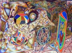 Elements, 2002, color pencil on paper