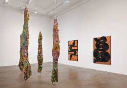 Alyson Shotz, The Small Clocks Run Wild, installation view, 2020