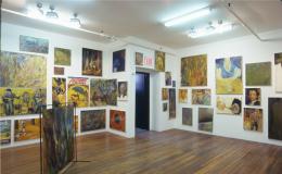 Keith Mayerson,Hamlet 1999, installation view at Derek Eller Gallery, New York