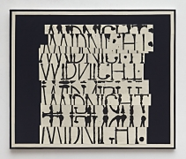 David Korty, Word Painting (Midnight), 2017