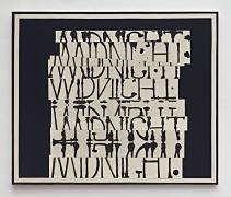 David Korty, Word Painting (Midnight), 2017