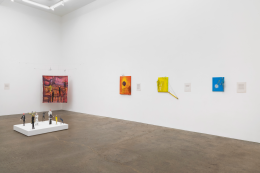 Tom Thayer, Make a Pinch Pot Out of Your Mouth, installation view at Derek Eller Gallery, New York