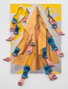 Catching Rain II, 2019, inkjet transfer and acrylic on canvas, Permalac