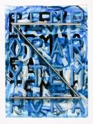 LYRICS, 2016, acrylic on paper