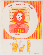 Untitled, 1965, ink, marker and color pencil on paper