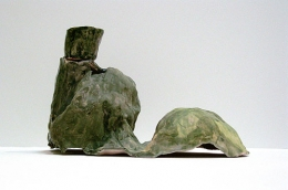 Hills with Small Cup, 2005, glazed ceramic