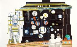 Paradgatan (Main Attraction), 2006, mixed media on paper