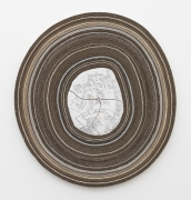 Rosebud, 2016, fired and glazed ceramics, cardboard,card, paper, linen, cotton duck, stagefilm, polyester, felt, leaf gold, smalti,natural stones, plywood