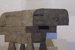 Bovine, 2005, acrylic, collage on canvas