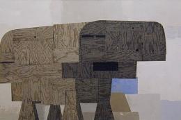 Bovine, 2005, acrylic, collage on canvas