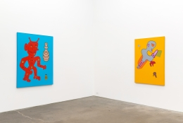 Karl Wirsum, Mr. Whatzit: Selections from the 1980s, installation view at Derek Eller Gallery, New York