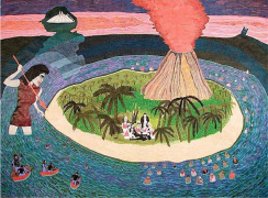 Have You Found... The Lost Hawaiians?, 2006, acrylic, ink and gel pen on paper