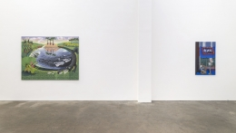 Melissa Brown, Between States, installation view at Derek Eller Gallery, New York