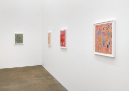 Clare Grill, installation view of There's the Air at Derek Eller Gallery, 2021