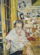 Louise Bourgeois at Her Salon, 2008, oil on linen