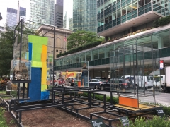 City, 2017, Site-specific commission in partnership with The Fund for Park Avenue and NYC Park