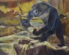 King Kong, 2006, oil on linen