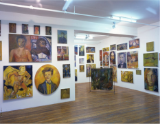 Keith Mayerson, Hamlet 1999, installation view at Derek Eller Gallery, New York