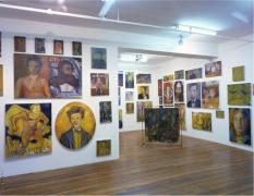 Keith Mayerson, Hamlet 1999, installation view at Derek Eller Gallery, New York