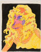 Untitled (Study for Doggerel), 1966, color pencil and ink on paper