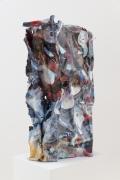Ties That Bind, 2013, gesso, archival inkjet on aluminum, acrylic spray paint, archival varnish