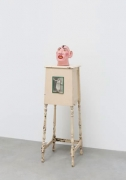 Schlitzie, 1967, Plaster and acrylic with wooden stand