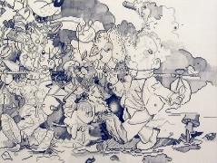 Banana Peel, 2002, graphite on paper