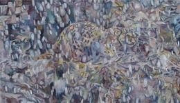 Snow Leopard, 2008, oil on linen