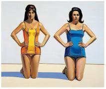 Wayne Thiebaud, Two Kneeling Figures, 1966