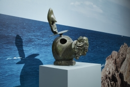 "Installation view of ""Miró the Sculptor: Elements of Nature"""