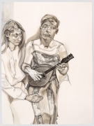 Lucian Freud, Two Figures from 'Large Interior W11 (After Watteau)', 1983