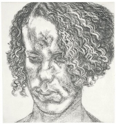 Lucian Freud, Girl with Fuzzy Hair, 2004