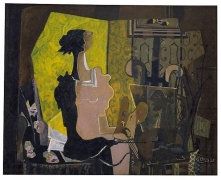 Georges Braque, Woman at an Easel (Yellow Screen), 1936